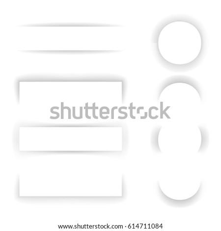 Shadow Paper Template Effect Transparent Set Background Web Banner Mockup Design Vector Illustration #614711084