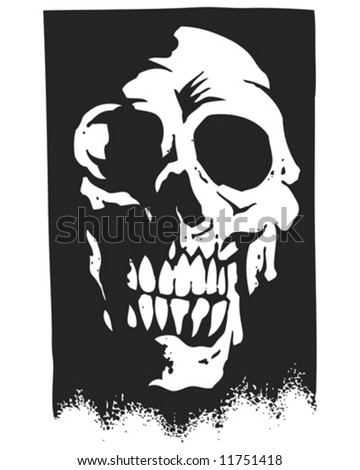 shadow skull silhouette vector