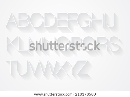 shadow typography font