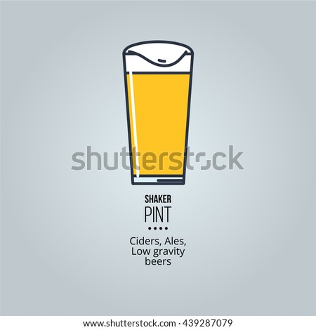 shaker pint glass icon Stock fotó ©