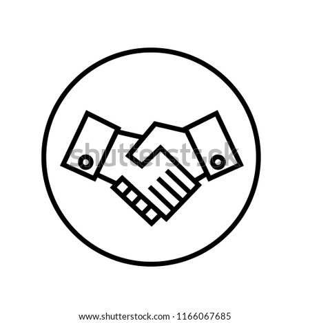 Shaking hands icon vector.