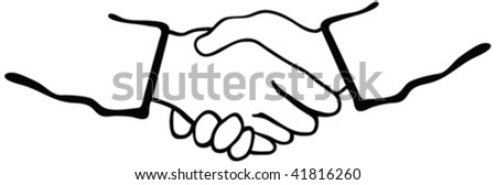 shaking hands silhouette