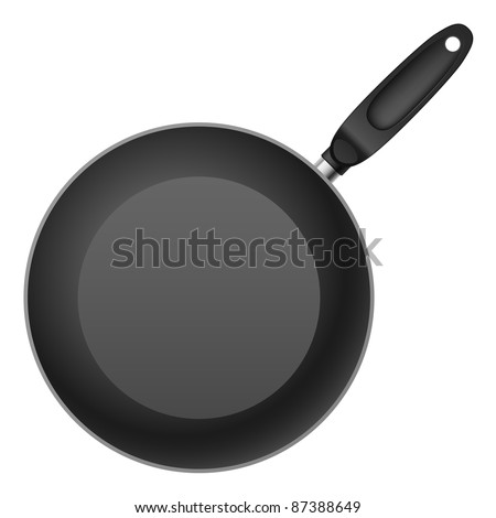 shallow frying pan. Illustration on white background
