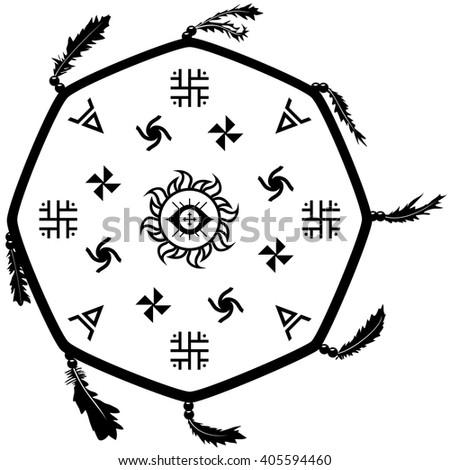 shaman drum tambourine with