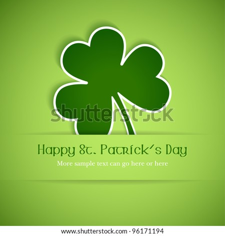 Shamrock, clover design, perfect for St. Patrick's Day. EPS10