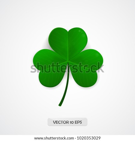 Shamrock. Clover icon. Patrick day symbol. Vector illustration.