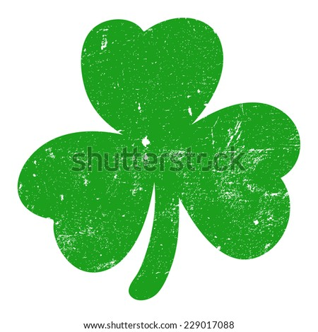 Shamrock green, grunge, vector illustration