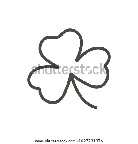 Shamrock icon. Outline vector, Irish clover, line shamrock symbol. Trendy flat ui sign design. Thin linear graphic pictogram for web site, mobile application. Logo illustration.