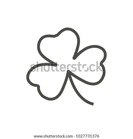 Shamrock icon. Outline vector, Irish clover, line shamrock symbol. Trendy flat ui sign design. Thin linear graphic pictogram for web site, mobile application. Logo illustration.
