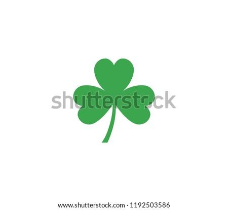 shamrock leaf icon. Shamrock icon.