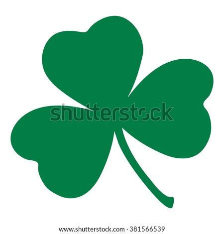 Shamrock leaf icon. St Patrick day, leprechaun symbol. Clover vector, flat Shamrock logo.