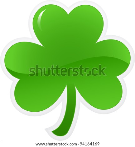 Shamrock or clover icon. Vector illustration