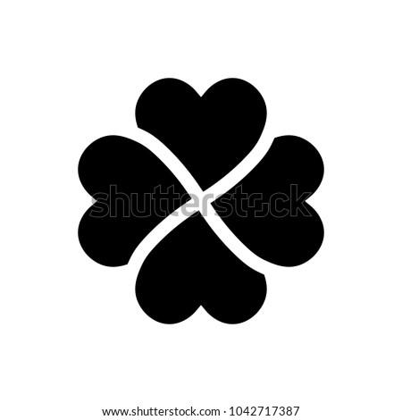 shamrock silhouette   black