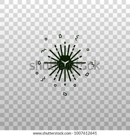 shamrock symbol with retro sun