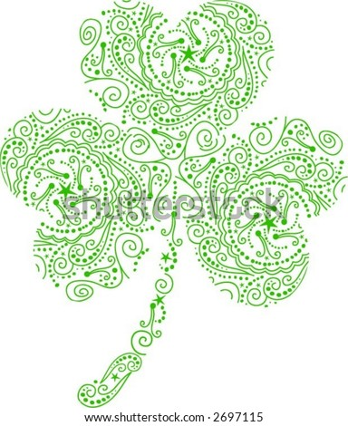 stock vector : Shamrock Tattoo Vector
