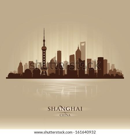 shanghai china city skyline