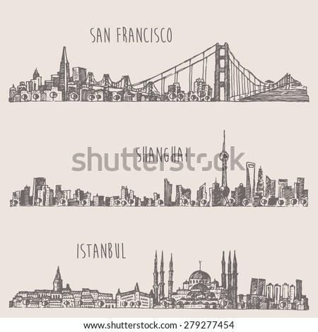 shanghai  istanbul  san