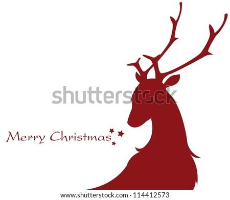 shape of a reindeer