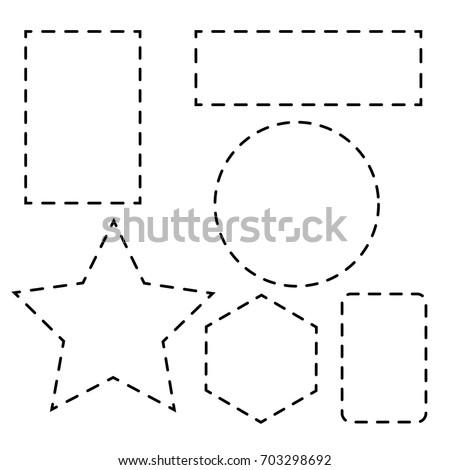 Shape with dotted line. shape