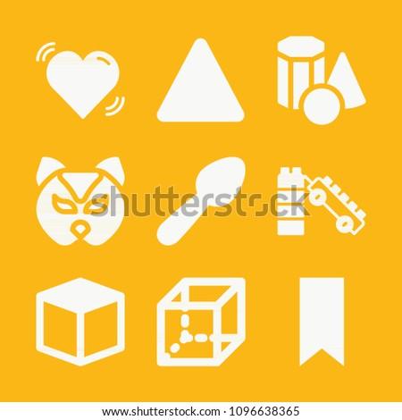 shapes filled set of vector