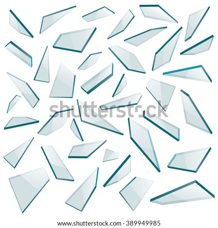 shards of glass vector