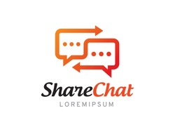 Share chat or talk logo symbol or icon template