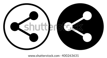 Share icon in circle . Vector illustration