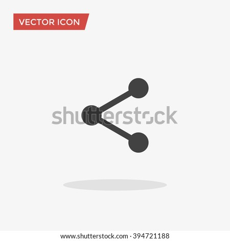 Share Icon in trendy flat style isolated on grey background, for your web design, app, logo, UI. Vector illustration, EPS10.