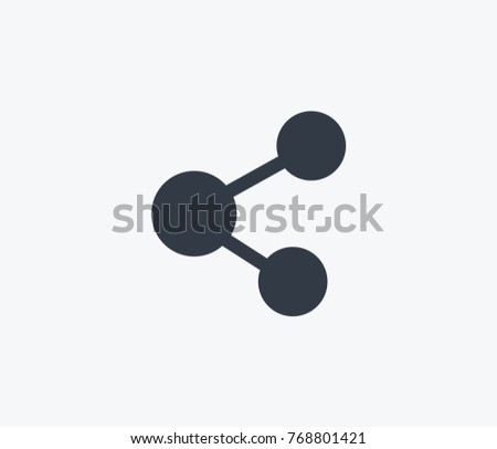 Share icon isolated on clean background. Internet concept drawing share icon in modern style. Vector illustration of share icon for your web site mobile logo app UI design.