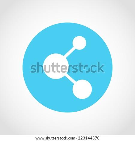 Share Icon Isolated on White Background