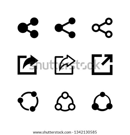 Share icon set vector. Bundle of set icon