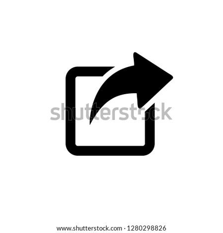 Share icon, Share Symbol vector
