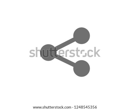 Share icon, Share symbols vector . symbol for web site Computer and mobile vector.