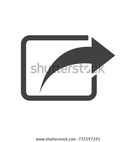 Share icon - simple flat design isolated on white background, vector