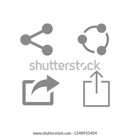 Share icon symbols vector. symbol for web site Computer and mobile vector.