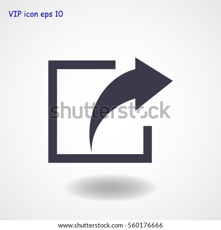 share icon, vector best flat icon, EPS