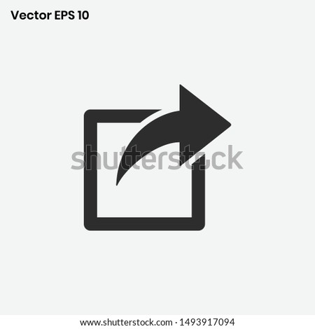 Share Icon Vector send sign
