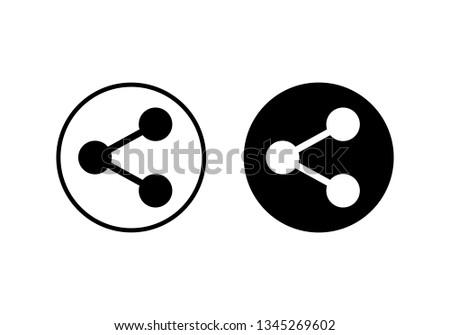 share icon vector. Share vector icon