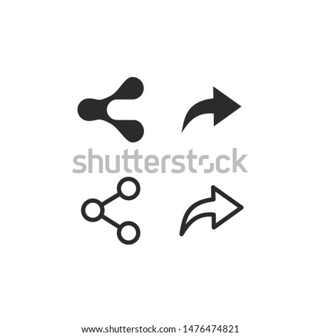 share icon vector sign isolated on white background. share symbol template color editable