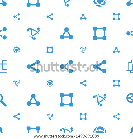 share icons pattern seamless white background. Included editable filled network connection, search share icons. share icons for web and mobile.