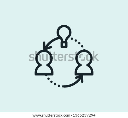 Share ideas icon line isolated on clean background. Share ideas icon concept drawing icon line in modern style. Vector illustration for your web mobile logo app UI design.