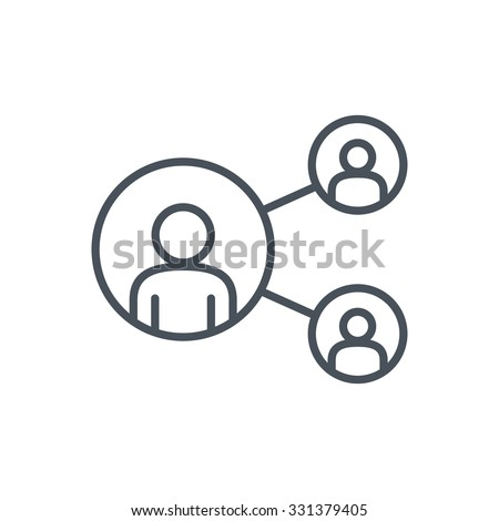 Share, network icon suitable for info graphics, websites and print media. Colorful vector, flat icon, clip art.