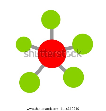 Share sign icon. Link technology symbol - technology data, vector connection sign