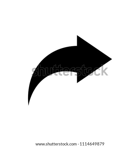 Share vector icon, arrow symbol. Simple illustration for web or mobile app