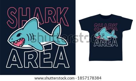 shark area vector illustration