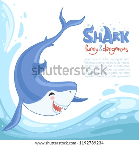 shark attack background blue