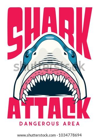shark attack poster   t shirt