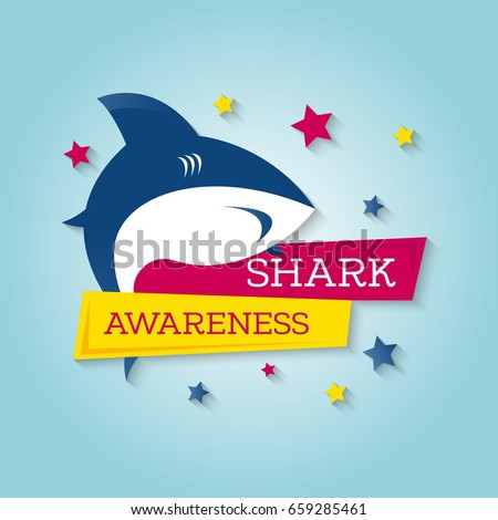 Shark Awareness Day. Vector Illustration. Suitable for poster, banner, campaign, and greeting card