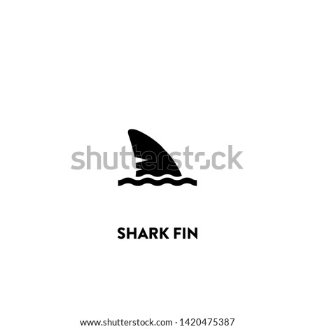 shark fin icon vector. shark fin sign on white background. shark fin icon for web and app Foto stock ©