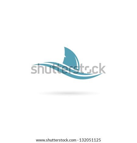 shark fin   vector illustration